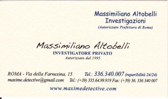 investigatore privato Massimiliano Altobelli