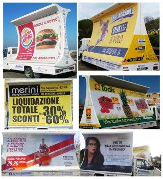Vele Pubblicitarie Camion Vela Roma By Ad Hoc Pubblicità